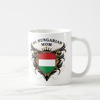 """Number One Hungarian Mom"" Basic White Mug"
