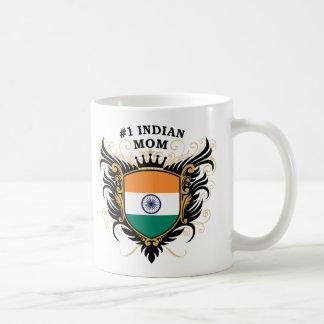 Number One Indian Mom Basic White Mug