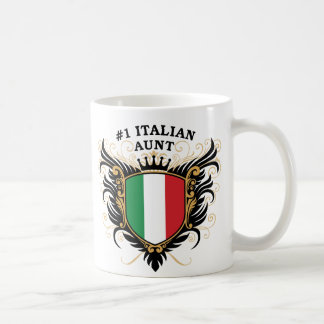 Number One Italian Aunt Coffee Mugs