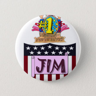 Number One Jim 6 Cm Round Badge