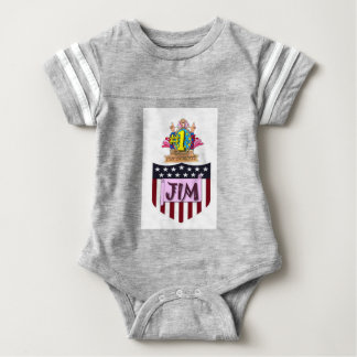 Number One Jim Baby Bodysuit