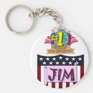 Number One Jim Key Ring