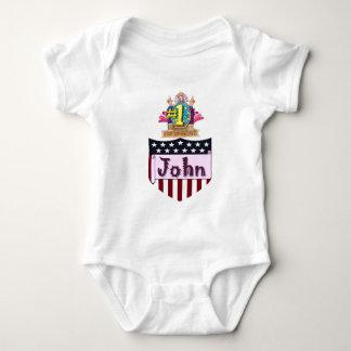 Number One John Baby Bodysuit