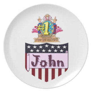 Number One John Plate