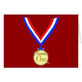 Number one medal winner gold golden card