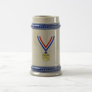 Number one medal winner gold golden coffee mugs