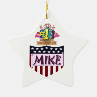 Number One Mike Ceramic Ornament