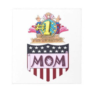 Number One Mom Notepad