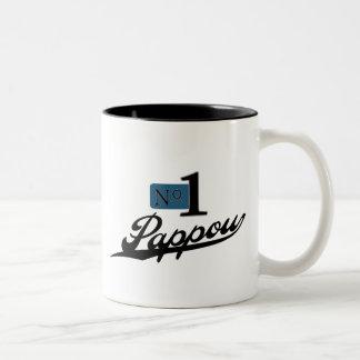 Number One Pappou Two-Tone Coffee Mug