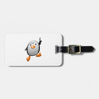 Number One Penguin Luggage Tag
