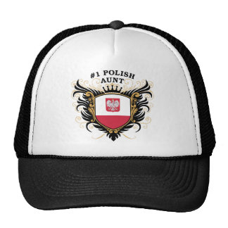 Number One Polish Aunt Trucker Hat