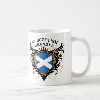 Number One Scottish Grandpa Basic White Mug