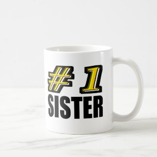 Number One Sister Classic White Coffee Mug