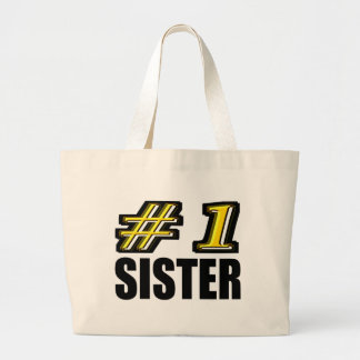 Number One Sister Jumbo Tote Bag