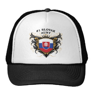 Number One Slovak Aunt Trucker Hats