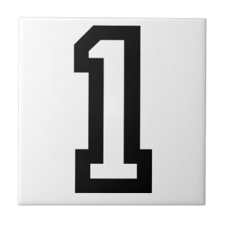 Number One Small Square Tile