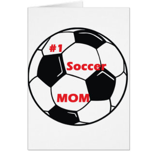 Number One Soccer Mom Card