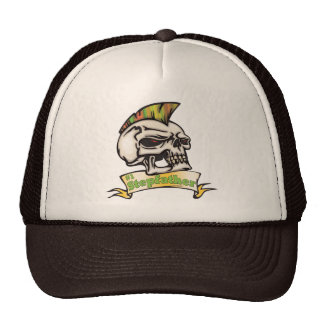 Number One Stepfather Skull Father's Day Gifts Mesh Hats