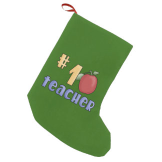 Number One Teacher Christmas Stocking