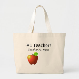 Number One Teacher Large Tote Bag
