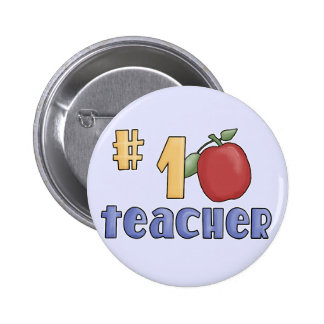 Number One Teacher Tshirts and Gifts 6 Cm Round Badge