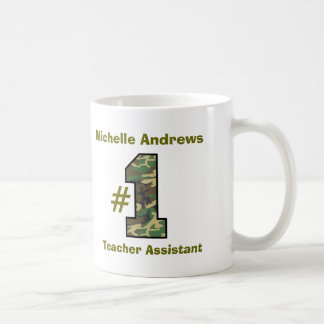 Number One Teaching or Teacher Assistant V33 Coffee Mug