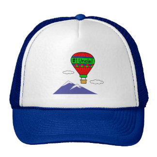 Number One Uncle with Hot Air Balloon Cap
