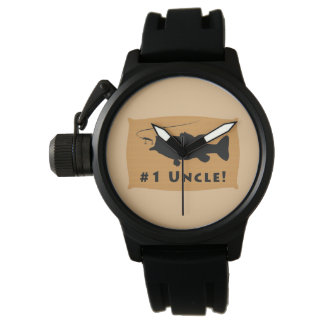 Number One Uncle with Largemouth Bass Watch