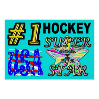 Number One USA Hockey Superstar Poster