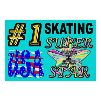 Number One USA Skating Superstar Poster