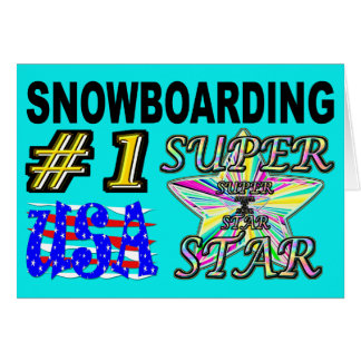 Number One USA Snowboarding Superstar Card