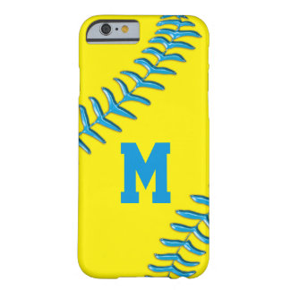 NUMBER or MONOGRAM Softball iPhone 6 Cases