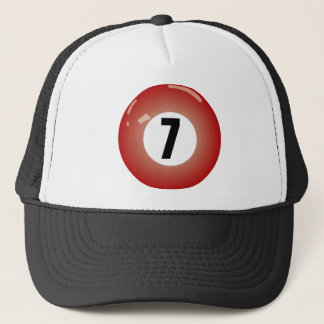 Number Seven Billiard Ball Trucker Hat