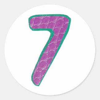 Number Seven Sticker