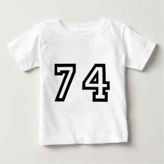 Number Seventy Four Baby T-Shirt