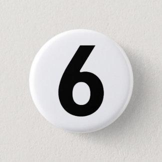 Number Six - The Prisoner 3 Cm Round Badge
