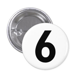 Number Six - The Prisoner 3 Cm Round Badge