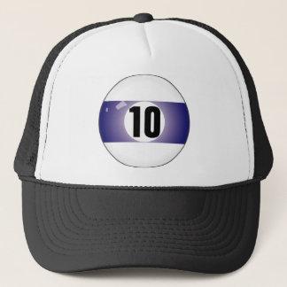 Number Ten Billiard Ball Trucker Hat
