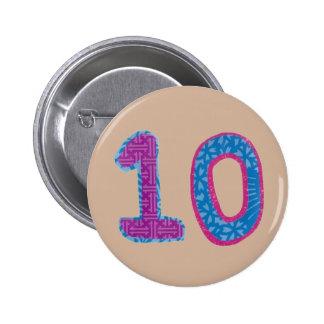 Number Ten Button