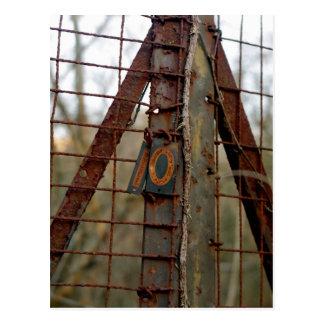 Number Ten Rusted Postcard