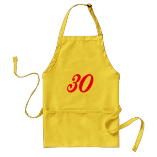 Number Thirty 30th Birthday Gifts Adult Apron