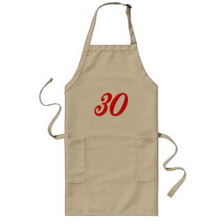 Number Thirty 30th Birthday Gifts Long Apron