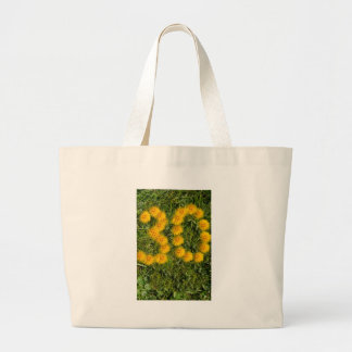 number thirty drawn with dandelion on the lawn jumbo tote bag