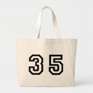 Number Thirty Five Jumbo Tote Bag