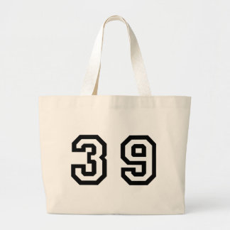 Number Thirty Nine Jumbo Tote Bag
