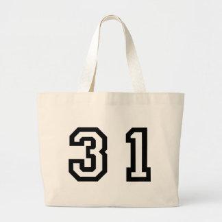 Number Thirty One Jumbo Tote Bag