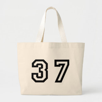 Number Thirty Seven Jumbo Tote Bag