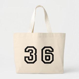 Number Thirty Six Jumbo Tote Bag