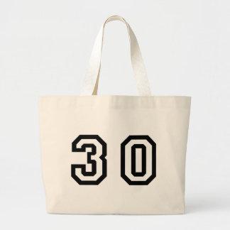 Number Thirty Jumbo Tote Bag