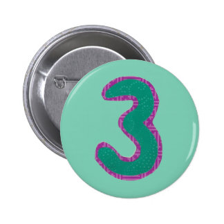 Number Three Button
